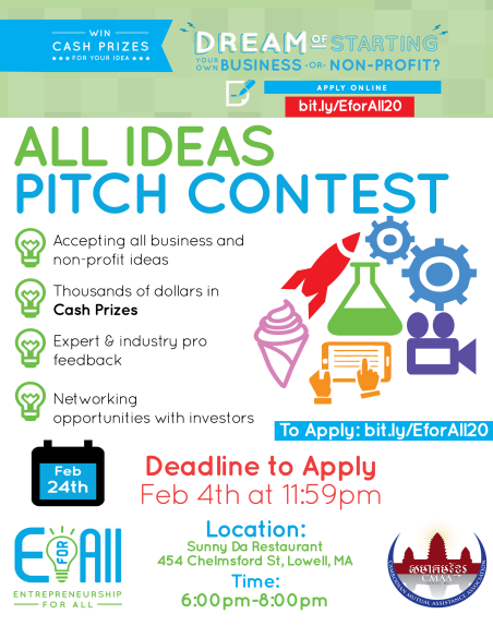 E For All - All Ideas Pitch Contest - Greater Lowell Chamber