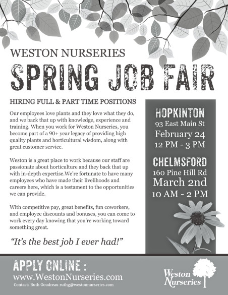 weston nurseries Reviews from weston nurseries employees about weston nurseries culture, salaries, benefits, work-life balance, management, job security, and more.
