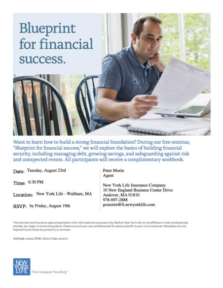Blueprint for financial success seminar greater lowell chamber of blueprintseminar invitation malvernweather Gallery